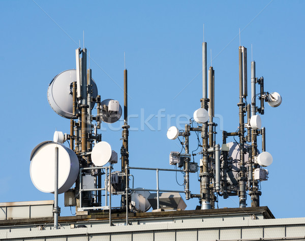 Telecommunication Antennas Stock photo © manfredxy