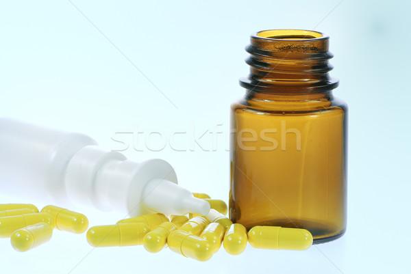 Nasal spray and capsules Stock photo © manfredxy