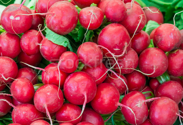 Red radish seen at the market Stock photo © manfredxy
