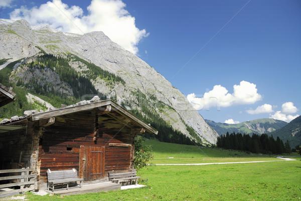 Tirolean hut Stock photo © manfredxy
