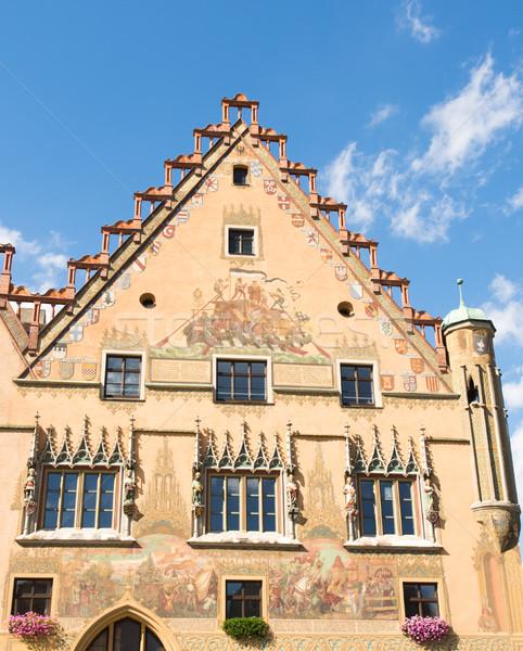 Storico municipio città vecchia sala costruzione architettura Foto d'archivio © manfredxy
