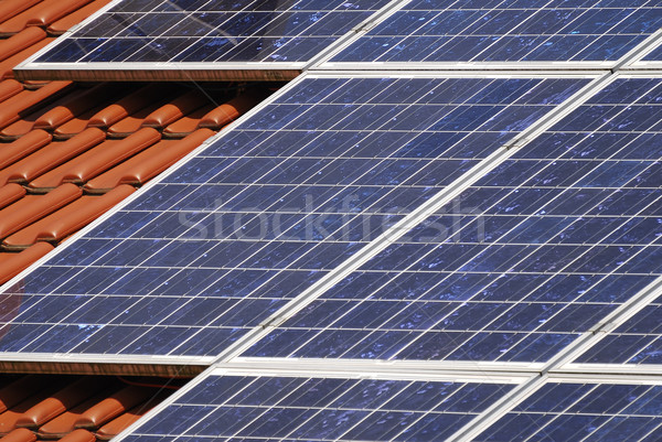 Roof with solar panels Stock photo © manfredxy