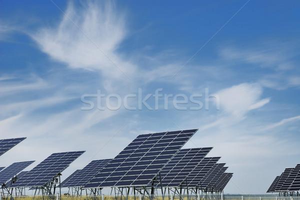 Stock photo: Solar panel field