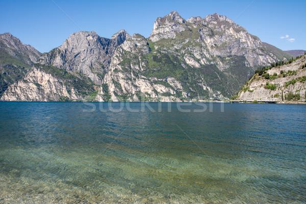 Alps at Lake Garda Stock photo © manfredxy