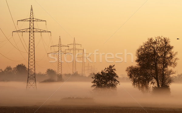 Stock photo: Pylons