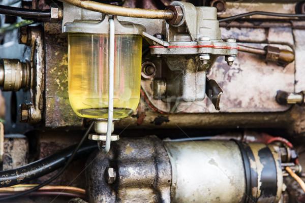 подробность исторический трактора Motor старые нефть Сток-фото © manfredxy