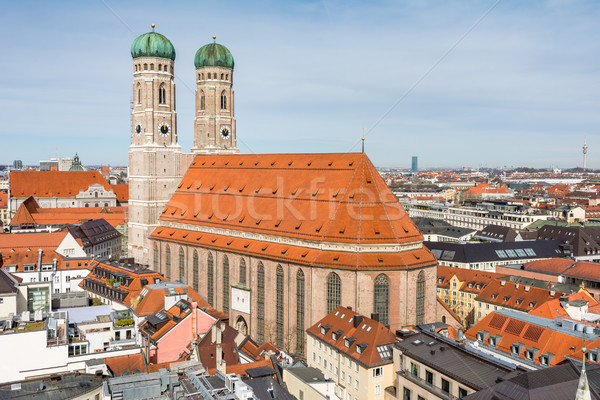 Aerial view over the city of Munich Stock photo © manfredxy