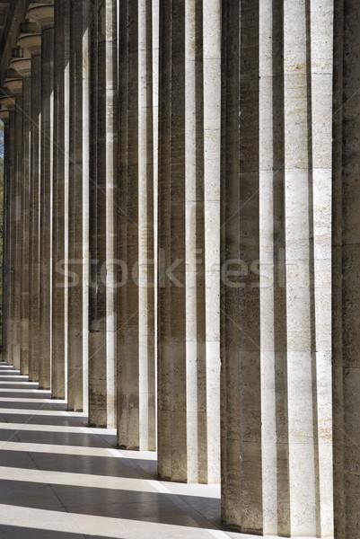 Kolumny architektury szczegół starych historyczny kamień Zdjęcia stock © manfredxy