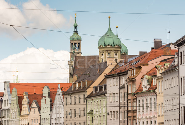 Historic hose facades in Augsburg Stock photo © manfredxy