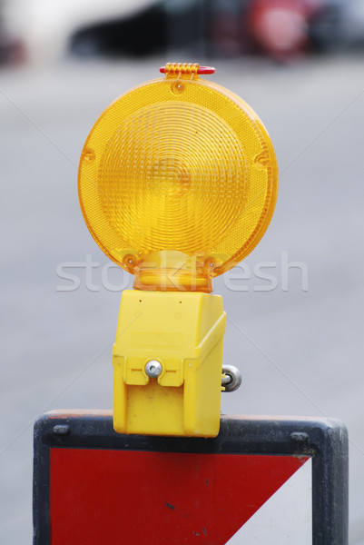 Barricaderen licht bouwplaats bouw veiligheid Stockfoto © manfredxy