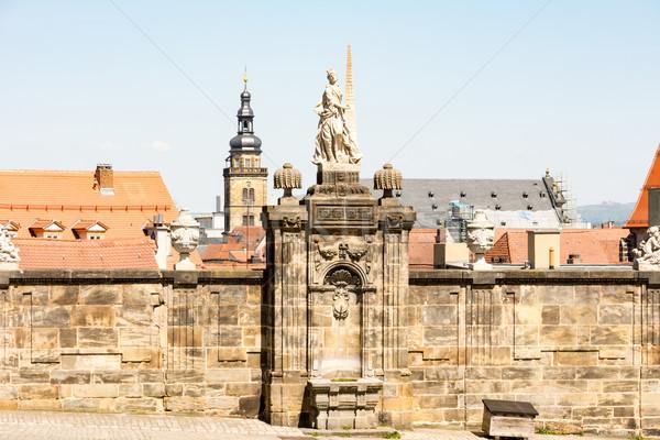 Historisch sculptuur stad kerk architectuur Stockfoto © manfredxy