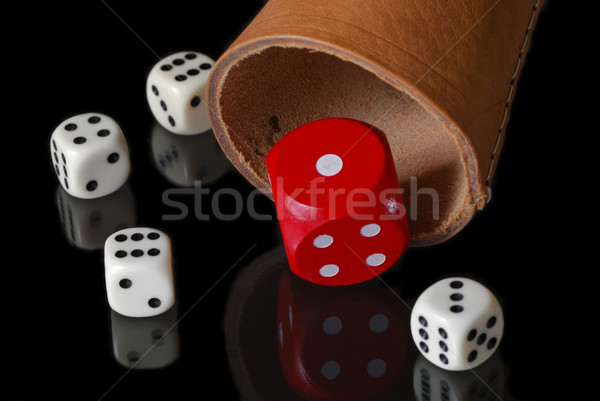 Dice cup Stock photo © manfredxy