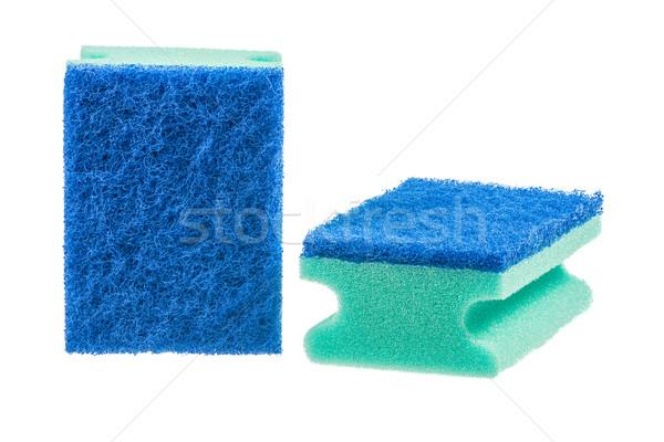 Stock fotó: Takarítás · közelkép · kettő · izolált · zöld · tiszta