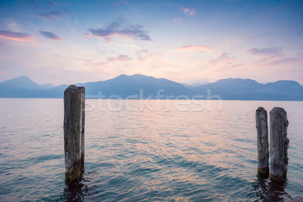 Sunset at Lake Garda Stock photo © manfredxy