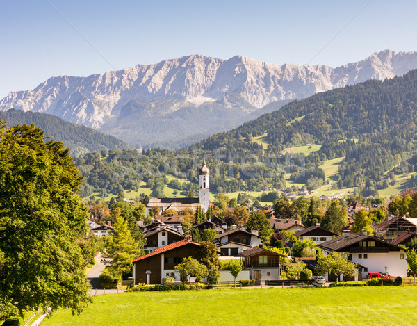 Village of Garmisch in the Alps of Bavaria Stock photo © manfredxy