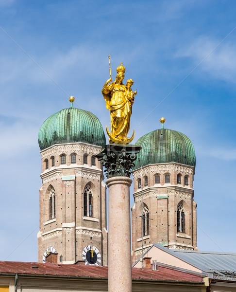 Columna catedral Munich viaje arquitectura Europa Foto stock © manfredxy