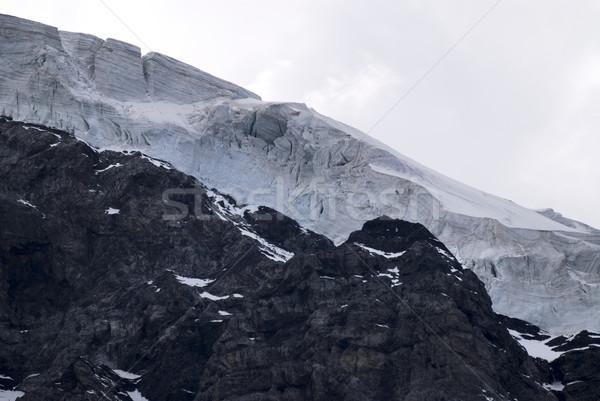 Geleira alpes sul paisagem neve rocha Foto stock © manfredxy