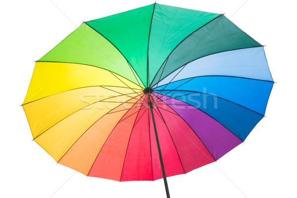 Isoltated rainbow coloured umbrella Stock photo © manfredxy
