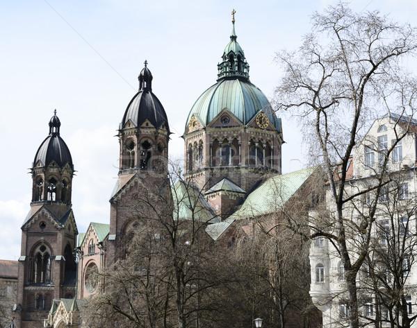 Igreja Munique edifício gótico religião Foto stock © manfredxy