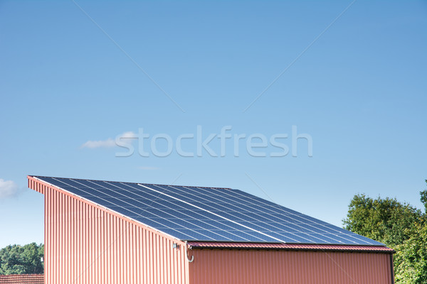 Photovoltaic Roof Stock photo © manfredxy
