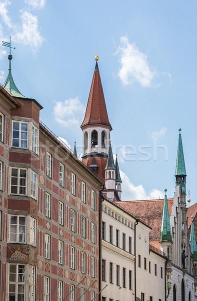 Barrio antiguo sala Munich atrás lado casa Foto stock © manfredxy