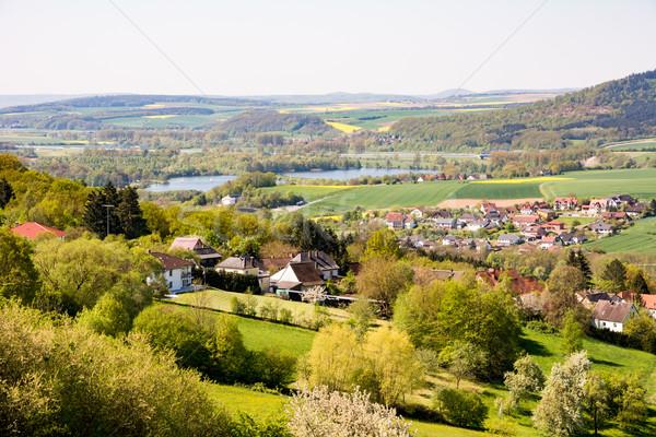 Köy manzara göl Avrupa Stok fotoğraf © manfredxy