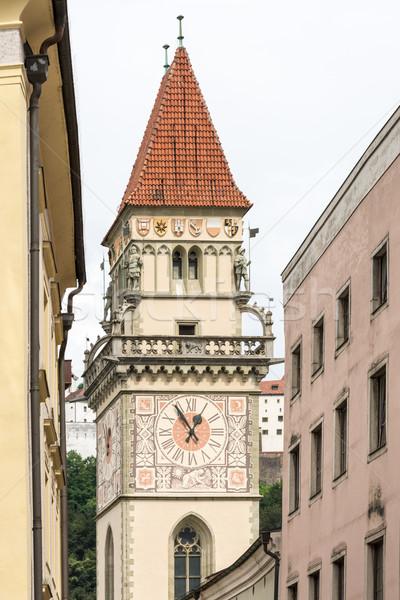 исторический ратуша башни город Сток-фото © manfredxy