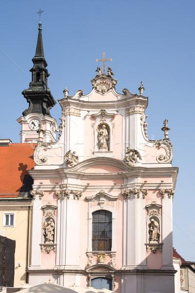 Barokowy kościoła fasada budynku Europie wieża Zdjęcia stock © manfredxy