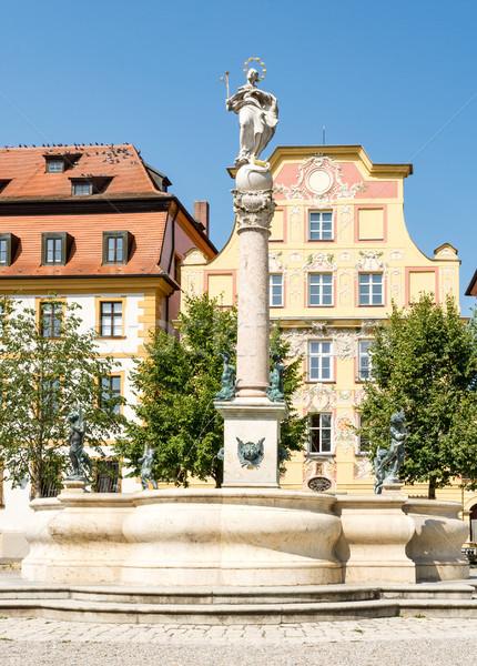 Historic square in the city Neuburg Stock photo © manfredxy