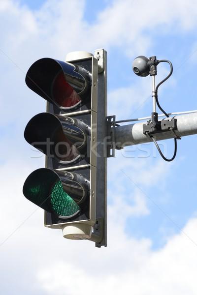 Semáforo cámara tráfico control luz Foto stock © manfredxy