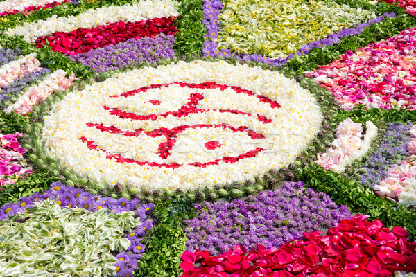 Virág szőnyeg dekoráció lakoma hagyományos zöld Stock fotó © manfredxy