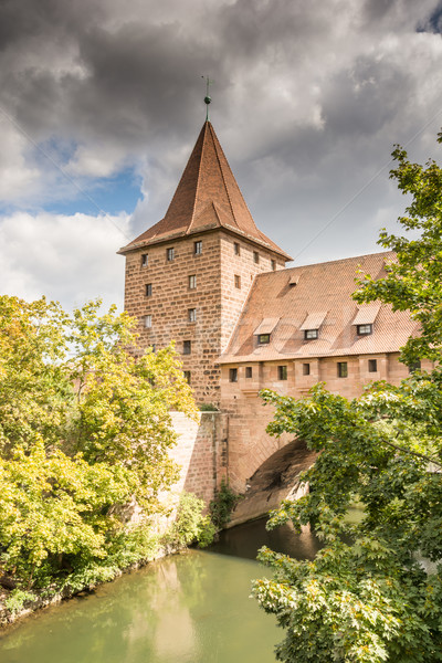 Medieval city wall in Nuernberg Stock photo © manfredxy