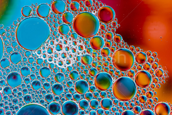 Abstract Macro Oil Bubbles Stock photo © manfredxy