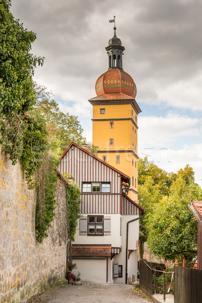 Historic city gate tower in Dinkelsbuehl Stock photo © manfredxy