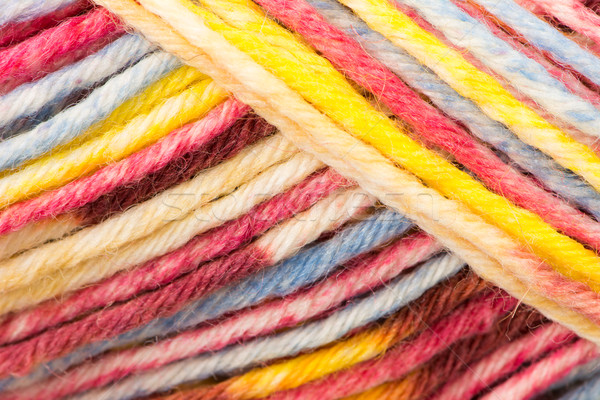 Stock photo: Multicolred ball of wool