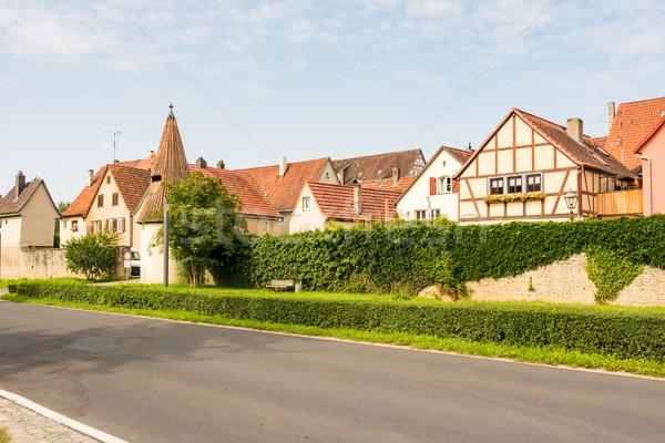 Stockfoto: Historisch · dorp · hoofd-