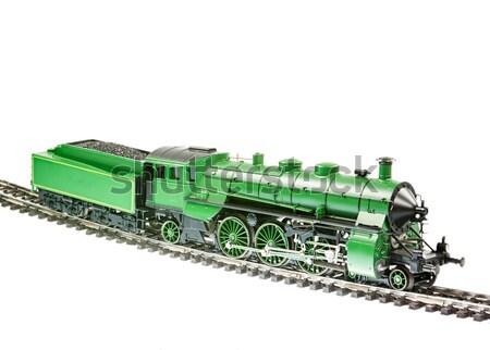 игрушку изолированный уголь Vintage двигатель Сток-фото © manfredxy