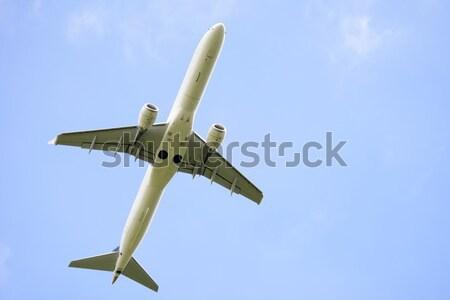 Repülőgép repülőgép égbolt technológia légy gép Stock fotó © manfredxy