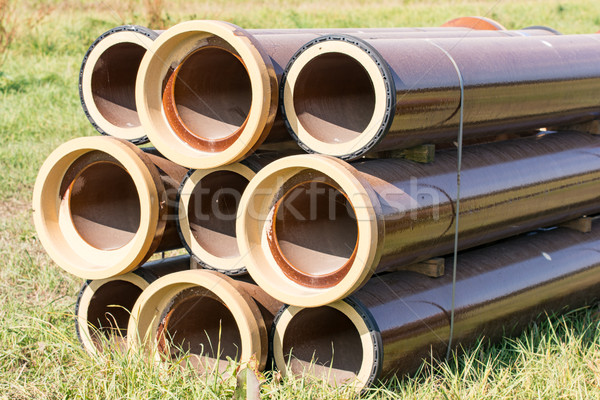 Stack of canalization pipes Stock photo © manfredxy