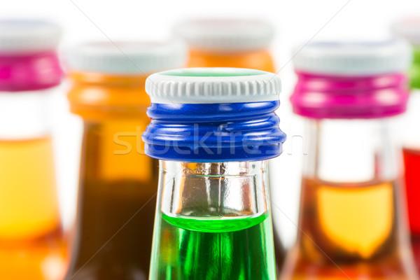 различный изолированный ликер бутылок вечеринка напитки Сток-фото © manfredxy