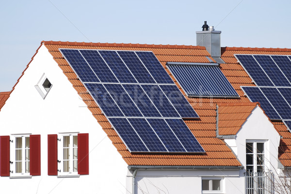 House with regenerative energy system Stock photo © manfredxy
