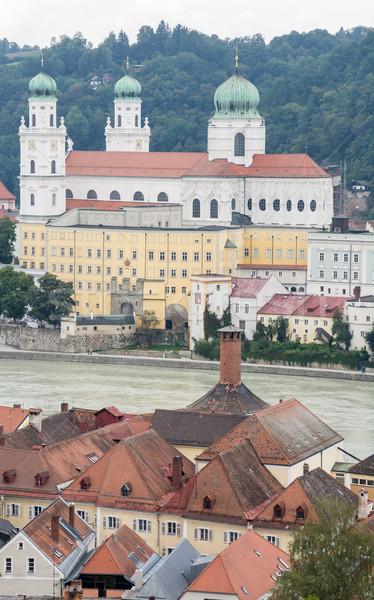 Vista río posada ciudad catedral iglesia Foto stock © manfredxy