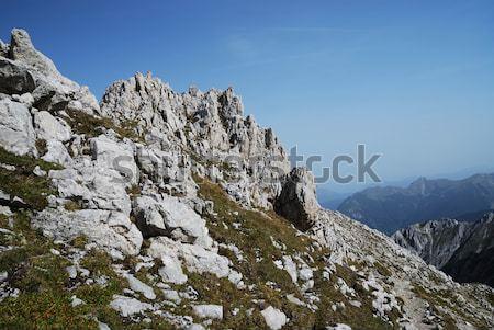 Alpen bergen steen eenzaam panorama rotsen Stockfoto © manfredxy