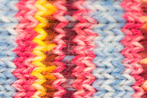 Knitted woolen multicolored background Stock photo © manfredxy