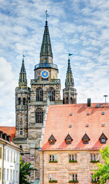 St. Gumbertus church in Ansbach Stock photo © manfredxy