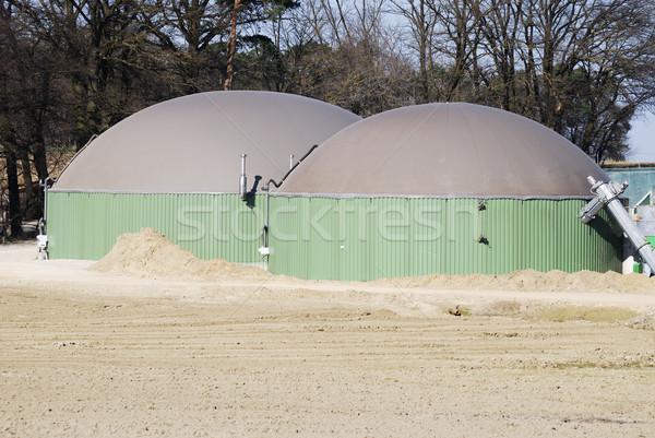 Biogáz gyártás növény ökológiai mezőgazdaság környezet Stock fotó © manfredxy