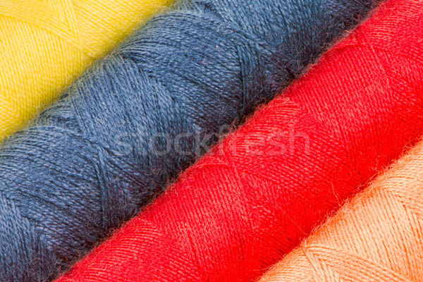 Abstract background of cotton yarn bobbins Stock photo © manfredxy