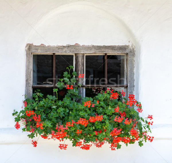 Vintage window of an old house Stock photo © manfredxy