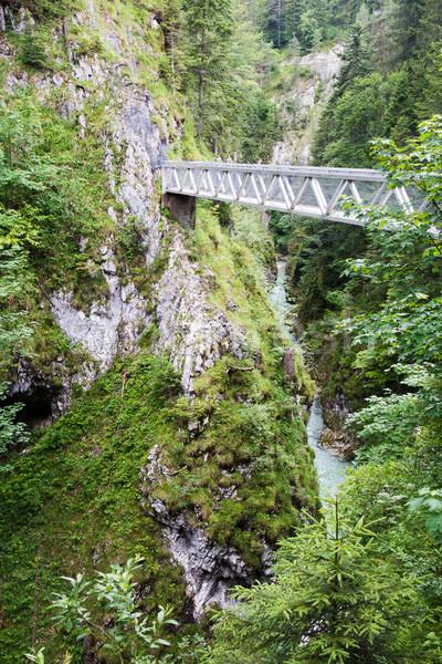 Bridge accross the Leutasch gorge Stock photo © manfredxy