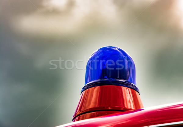 Blue light of a fire truck oldtimer Stock photo © manfredxy